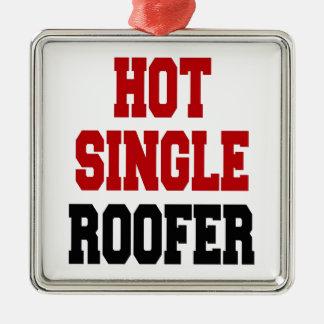 Hot Single Roofer Metal Ornament