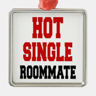 Hot Single Roommate Metal Ornament