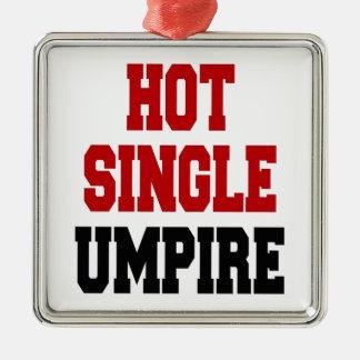 Hot Single Umpire Metal Ornament