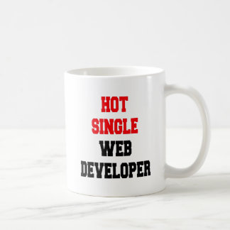 Hot Single Web Developer Classic White Coffee Mug