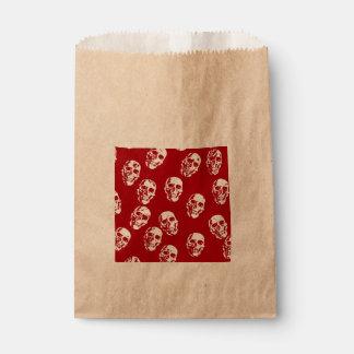 Hot Skulls,red white Favor Bag