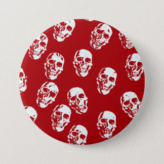 Hot Skulls,red white Pinback Button