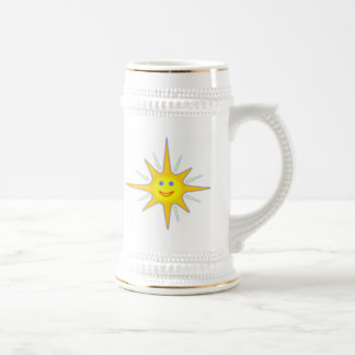 Hot Smiling Sun Beer Stein