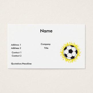 hot soccer ball business card