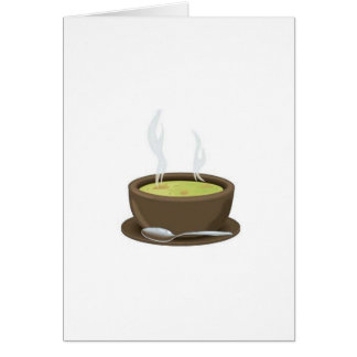 Hot soup vector greeting card
