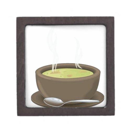 Hot soup vector premium jewelry box