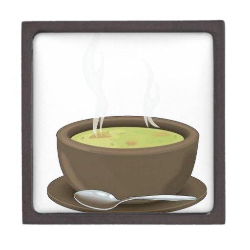 Hot soup vector premium gift box