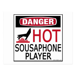Hot Sousaphone Player Postcard