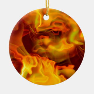 hot space Double-Sided ceramic round christmas ornament