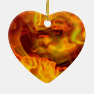 hot space Double-Sided heart ceramic christmas ornament