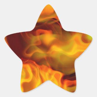 hot space star sticker
