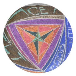 Hot Space Wheels Mars Blue Money 19.5 Faces Note Melamine Plate