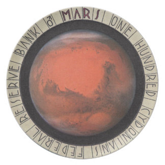 Hot Space Wheels MARS Money 100 Cydonians Dinner Plate