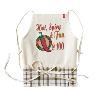Hot Spicy and Fun at 100 Zazzle HEART Apron