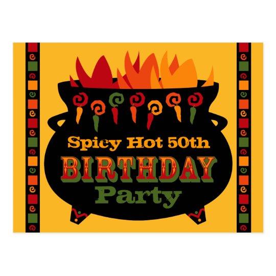 Hot & Spicy Birthday Invitation Postcard