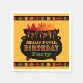 Hot & Spicy Birthday Paper Napkin