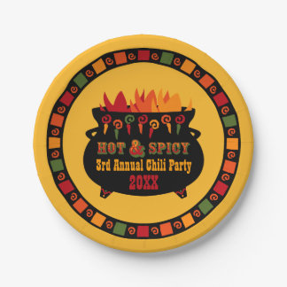 Hot & Spicy Chili Party Paper Plate