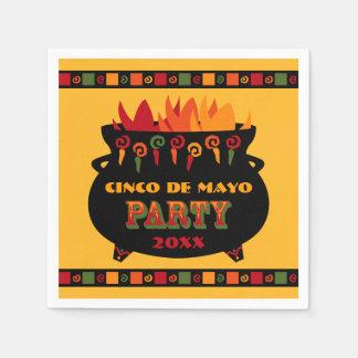 Hot & Spicy Cinco De Mayo Standard Cocktail Napkin