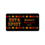 Hot & Spicy Food Label Address Label