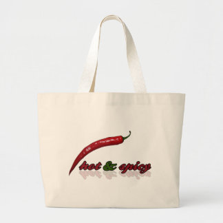 Hot & Spicy Large Tote Bag
