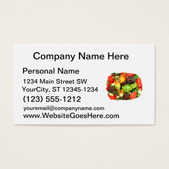 Hot Spicy Peppers Different Species, Spice it up! Business Card