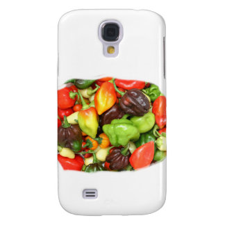 Hot Spicy Peppers Different Species, Spice it up! Galaxy S4 Covers