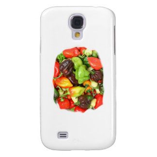 Hot Spicy Peppers Different Species, Spice it up! Samsung Galaxy S4 Covers