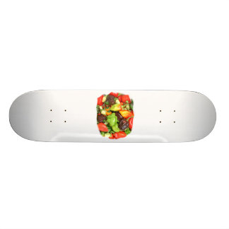 Hot Spicy Peppers Different Species, Spice it up! Skateboard Deck