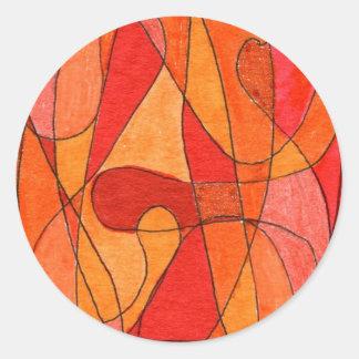 """""""Hot Spot"""" Abstract Design Sticker"""