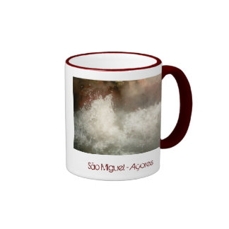 Hot spring in Azores Mugs