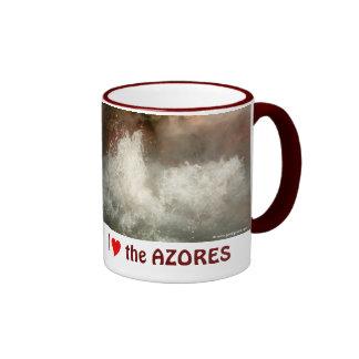 Hot spring in Azores Ringer Mug