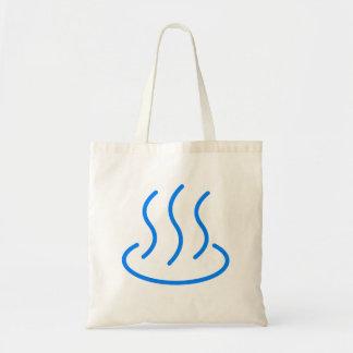 Hot spring mark 1 (blue color) tote bag
