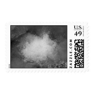 Hot spring postage stamps