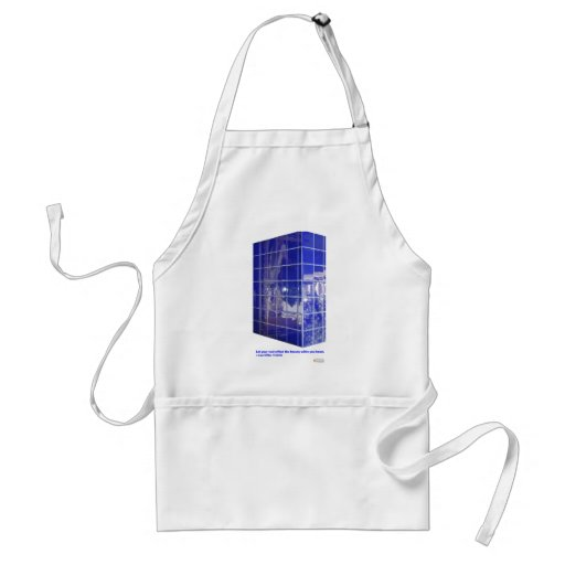 Hot Springs, AR BlueTile Reflection Gifts Apparel Adult Apron