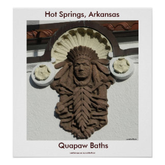 Hot Springs, AR Quapaw Baths Large Print