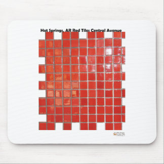 Hot Springs, AR Red Tiles Central Ave Gifts Mouse Pad