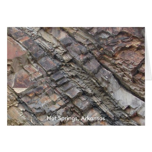 Hot Springs, AR Rock Layers Central Avenue Greeting Card