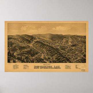 Hot Springs Arkansas 1888 Panoramic Map Poster