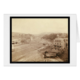 Hot Springs From Club House Hill SD 1891 Card
