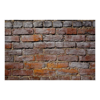 Hot Springs Historic District Brick Wall Poster