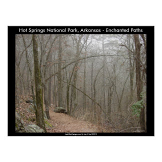 Hot Springs National Park, AR - Enchanted Paths Poster