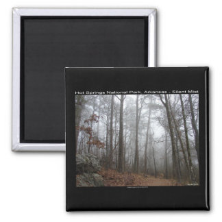Hot Springs National Park, AR Silent Mist Gifts 2 Inch Square Magnet
