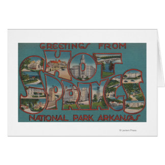 Hot Springs National Park, Arkansas Card