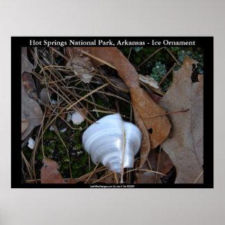 Hot Springs National Park, Arkansas - Ice Ornament Poster