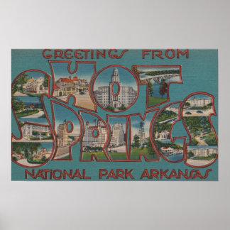 Hot springs national park arkansas poster