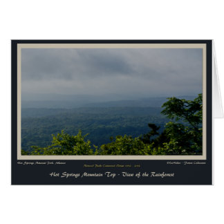Hot Springs National Park Rainforest Centennial Ed Card