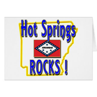 Hot Springs Rocks ! (blue) Card
