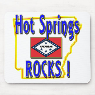 Hot Springs Rocks ! (blue) Mouse Pad