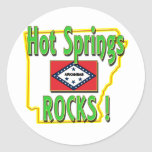 Hot Springs Rocks ! (green) Classic Round Sticker