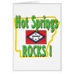 Hot Springs Rocks ! (green) Greeting Card